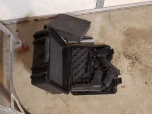 Cedar Mill 4 Pistol Case dropped on lid